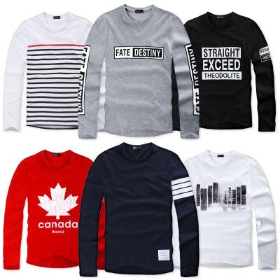 Long sleeve T-shirt/plus size/men/cotton/half/group/tee