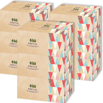 (100% natural) Freyja Tissue Box 250 sheets x9/12pcs Tissue Napkin