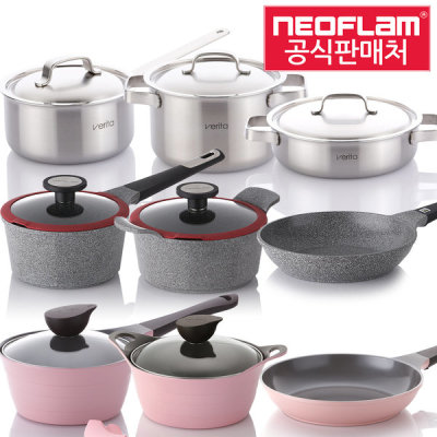 Ecolon coated IH induction pot set frying pan all heat source possible