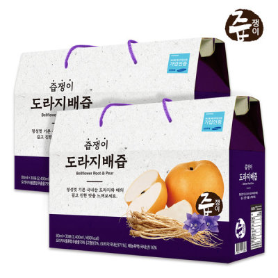 Bellflower Root N Pear Juice 2 boxes 60 pouches