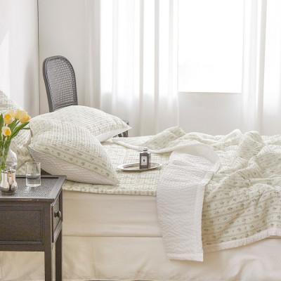 Korean Cool Seersucker Summer Comforter Set Bedding