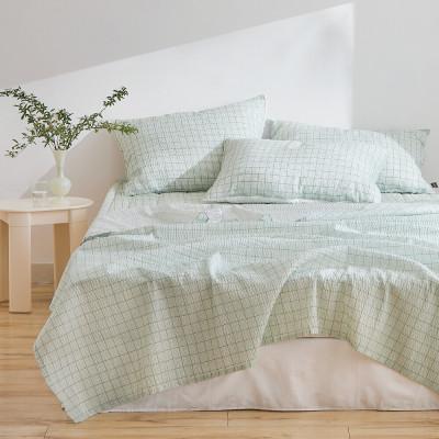Cool Summer Seersucker Single-layer Blanket Cooling Ice 2pcs
