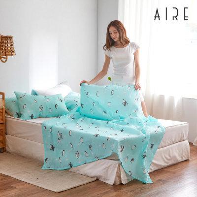 Made in Korea Cool Seersucker Summer Single Layer blankets Cooling Ice Bedding