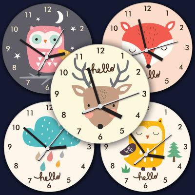 Character wall clock+Deco set/round/wall clock 14800~ (noiseless)
