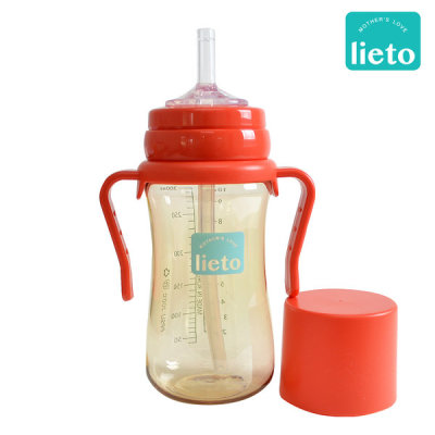 lieto baby TRITAN straw cup 1+1 stainless straw cup