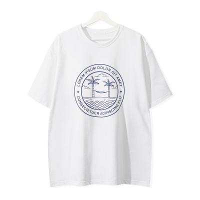 Summer below elbow sleeve/men`s short-sleeve T-shirt/round neck