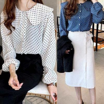 Summer new arrival loose fit plus size blouse dress shirt