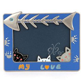8)헌팅캣액자(블루)cat hunting(blue)
