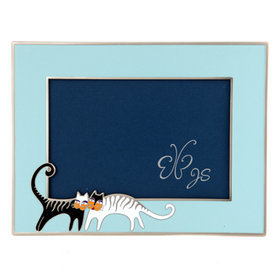 8)러브캣액자(스카이블루)cat loving(skyblue)