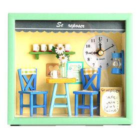 1a)돌하우스커피샵시계Dollhouse Coffee Shop Clock