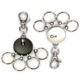 4)고리형멀티훅키링(블랙)round multi ring(black)