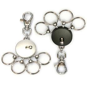 4)고리형멀티훅키링(실버)round multi ring(silver)