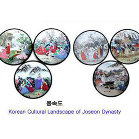 4)코스타(풍속도)coasters(korean landscape)