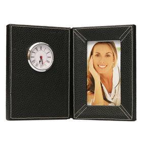 4)고급블랙액자시계table clock with photo frame