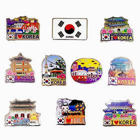9d)관광지아크릴자석10개tourist spot magnet 10pcs
