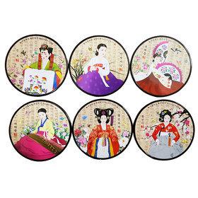 4)코스타(훈민정음여인도)coasters(korean script)