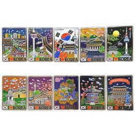 3b)관광지카드자석10개 Tour card magnet 10pcs