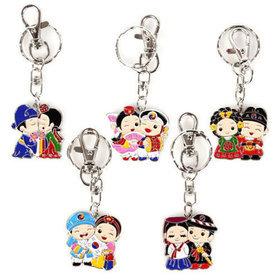5)민속메탈커플열쇠고리metal couple key ring(5pcs)