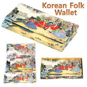 1c)민속3단장지갑tri-fold long wallet