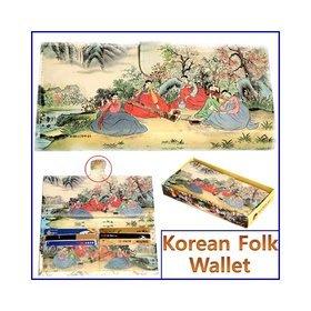 1a)민속후렌치장지갑tick-tock long wallet