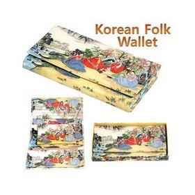 1a)민속3단장지갑tri-fold long wallet