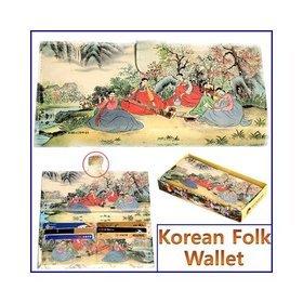 1c)민속후렌치장지갑tick-tock long wallet