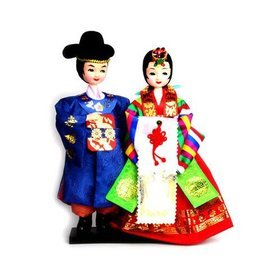 2)민속신랑신부천인형folk wedding couple doll