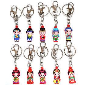 7a)컬러풀큐빅캐릭터키링10개 Characters