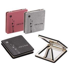 1)미로가죽사각콤팩트거울miro square compact(pink)