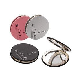 1)미로가죽원형콤팩트거울miro round compact(pink)