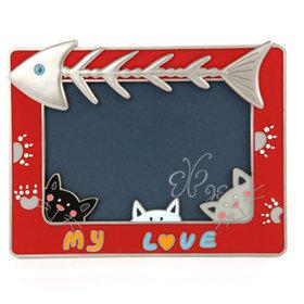 3)헌팅캣액자(레드)hunting cat(red)