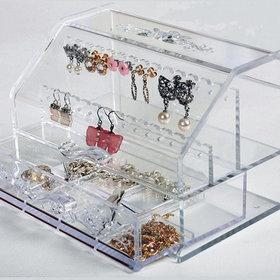 4)투명악세사리정리보석함accessory jewelry box