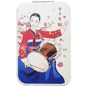 96)장구춤콤팩트거울Janggu dance compact mirror