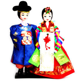 95)민속신랑신부천인형folk wedding couple doll