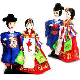 94)민속신랑신부천인형folk wedding couple doll