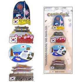 6)관광지메탈냉장고자석(4개)tour metal magnet(4pcs)