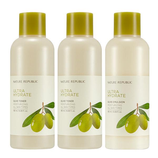 商品圖片,韓國代購|韓國批發-ibuy99|NATURE REPUBLIC Real Real Moist Olive Toner 2ea +…
