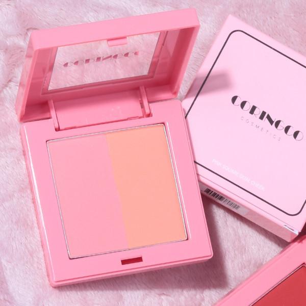 商品圖片,韓國代購 韓國批發-ibuy99 Pink Square Dual Cheek NO_01/ Blusher / pink  pea…