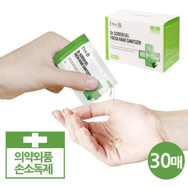 商品圖片,韓國代購 韓國批發-ibuy99 닥터스크린 일회용 에탄올 손소독제 30매통