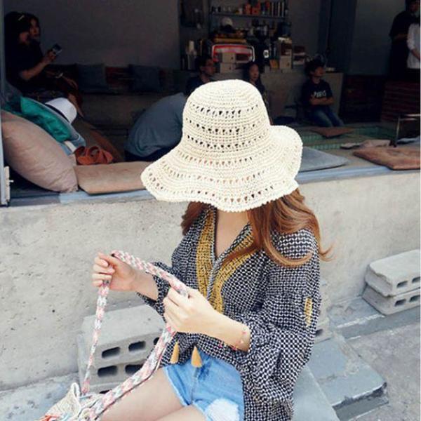 商品圖片,韓國代購|韓國批發-ibuy99|여성여름모자 챙넓은 여름밀짚모자 썸머 플로피햇