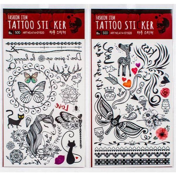 商品圖片,韓國代購|韓國批發-ibuy99|나만의 개성있는 패션아이템타투스티커(20개묶음)