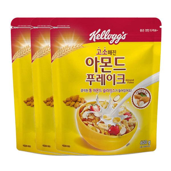 商品圖片,韓國代購|韓國批發-ibuy99|아몬드푸레이크 600g  파우치형 3봉지