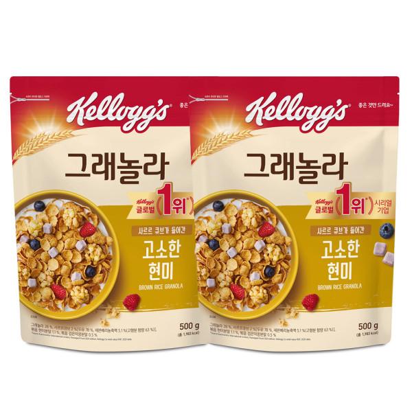 商品圖片,韓國代購|韓國批發-ibuy99|큐브 현미그래놀라 500g  파우치형 2봉지