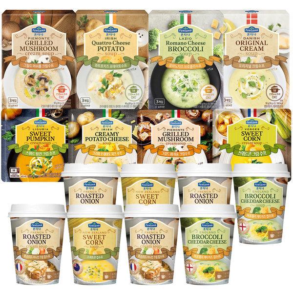 商品圖片,韓國代購|韓國批發-ibuy99|Fontana Instant Soup 8 boxes(total 24pcs)+Cup sou…
