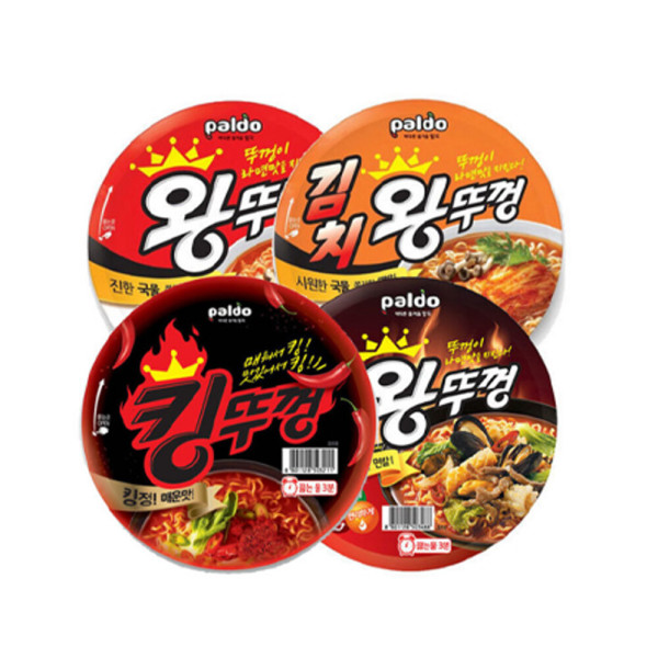 商品圖片,韓國代購|韓國批發-ibuy99|왕뚜껑 4종(혼합) x 4개 김치/우동/짬뽕/오리지널 16