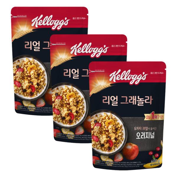 商品圖片,韓國代購|韓國批發-ibuy99|리얼그래놀라 400g  파우치형 3봉