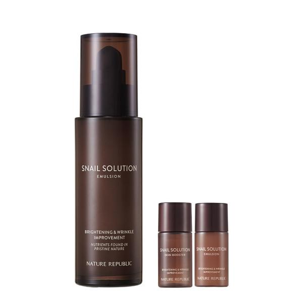 商品圖片,韓國代購 韓國批發-ibuy99 Nature Republic Snail Solution Emulsion/2 Double …