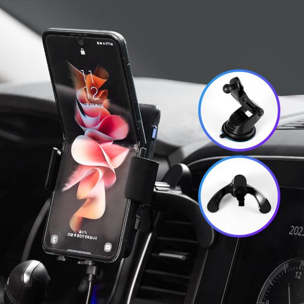 商品圖片,韓國代購|韓國批發-ibuy99|와이더F3 FOD 차량용 핸드폰 무선충전 거치대 충전기