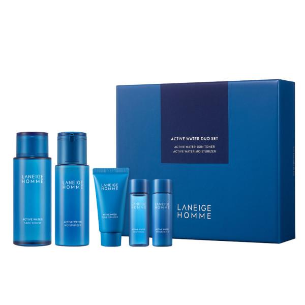 韓國代購|韓國批發-ibuy99|化妆品/香水|男士化妆品|基础套装|[Laneige Homme]男士舒润水活系列 2件套