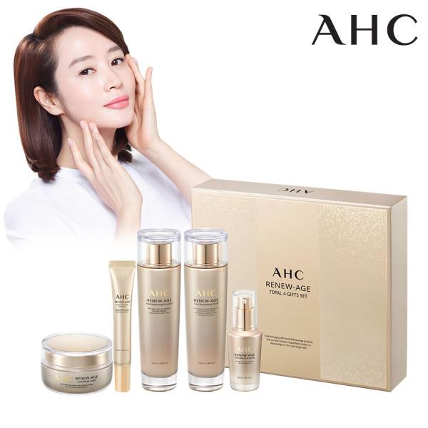 商品圖片,韓國代購 韓國批發-ibuy99 AHC RENEW-AGE Total 4-Item Gift Set + Shopping Ba…